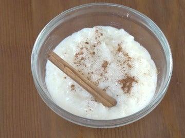 Un arroz con leche normal, pero hecho al microondas.