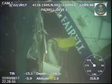Encuentran un cadáver en las inmediaciones del pesquero hundido en aguas de Barcelona