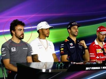 Alonso, en la rueda de prensa