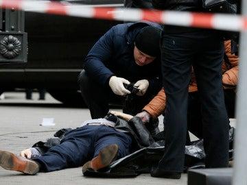 El cuerpo de Denis Voronenkov