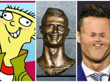 Los memes del busto de Cristiano Ronaldo