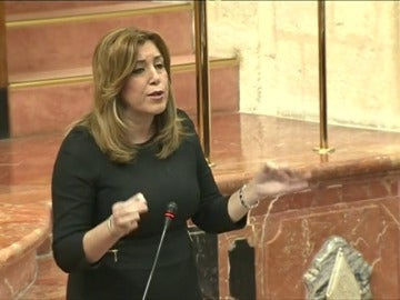 Frame 31.223397 de: Susana Díaz acusa a Podemos de ser la izquierda inutil