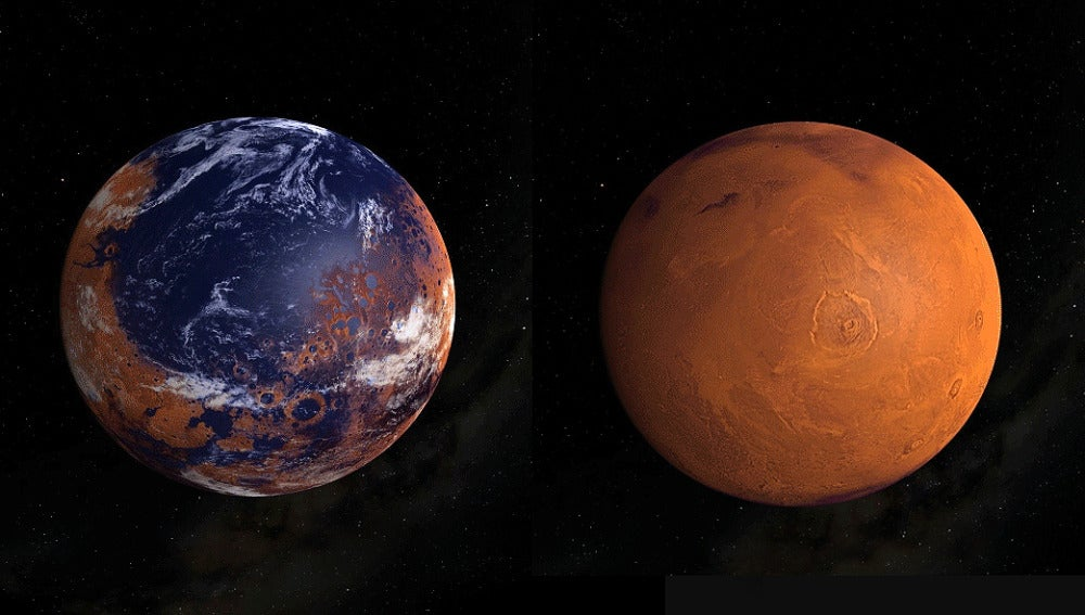 Asi perdio Marte su atmosfera