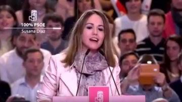 Estela Goikoetxea, la socialista que fue telonera de Susana Díaz durante su anuncio de presentación a las primarias