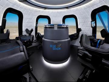 Así sería el interior de la cápsula de Blue Origin