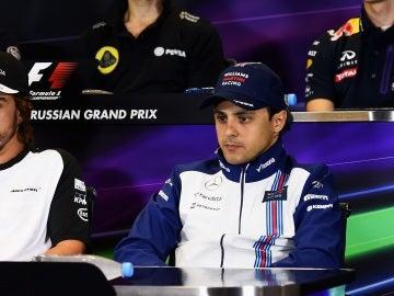 Massa y Alonso, en rueda de prensa