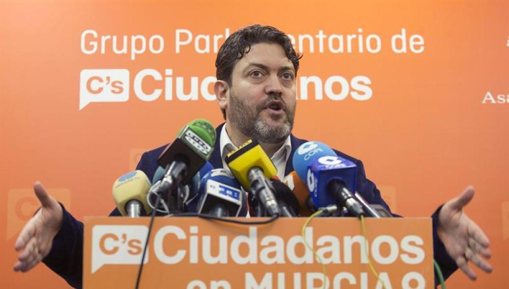El portavoz del Grupo parlamentario de Ciudadanos en Murcia, Miguel Sánchez