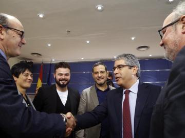 Diputados nacionalistas con Homs