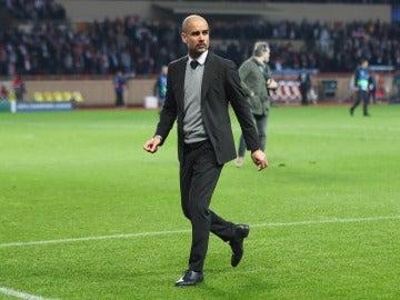 Pep Guardiola en un partido
