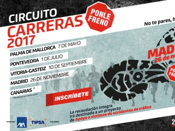 Cartel carrera Ponle Freno Madrid