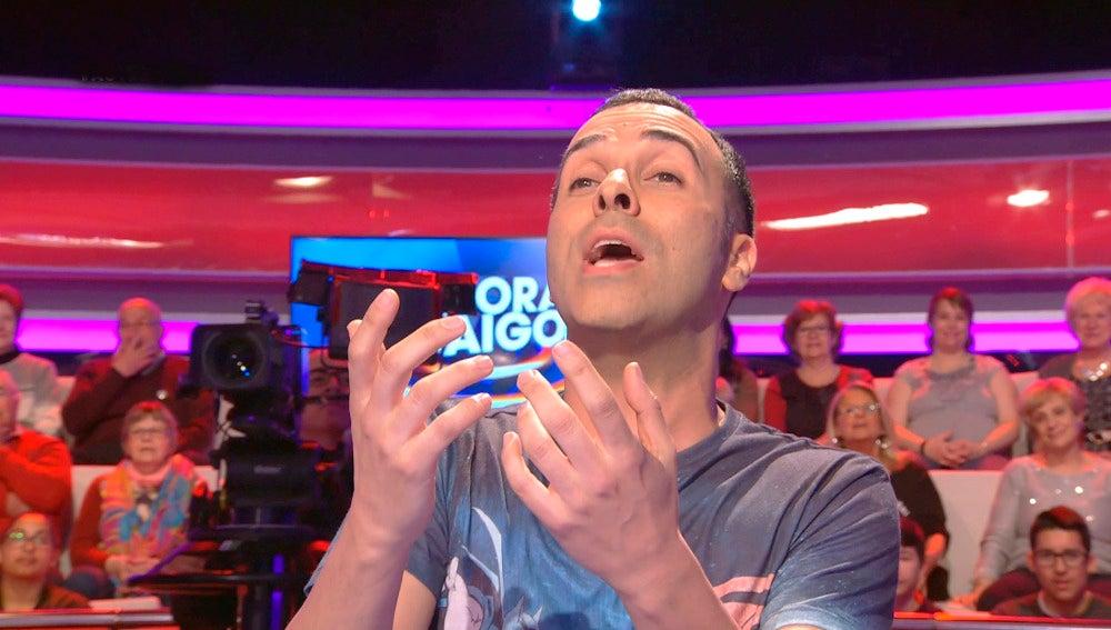 Cristóbal Garrido impresiona al público de '¡Ahora Caigo!' con su espectacular imitación