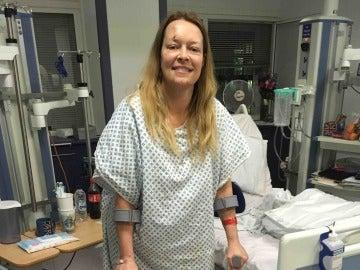 Melissa fue una de las heridas durante el atentado en Londres, donde perdió a su marido