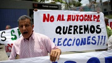 El lema de las protestas en Venezuela