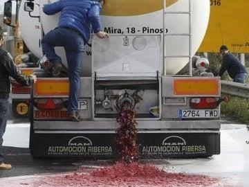 Boicot en Francia al vino español