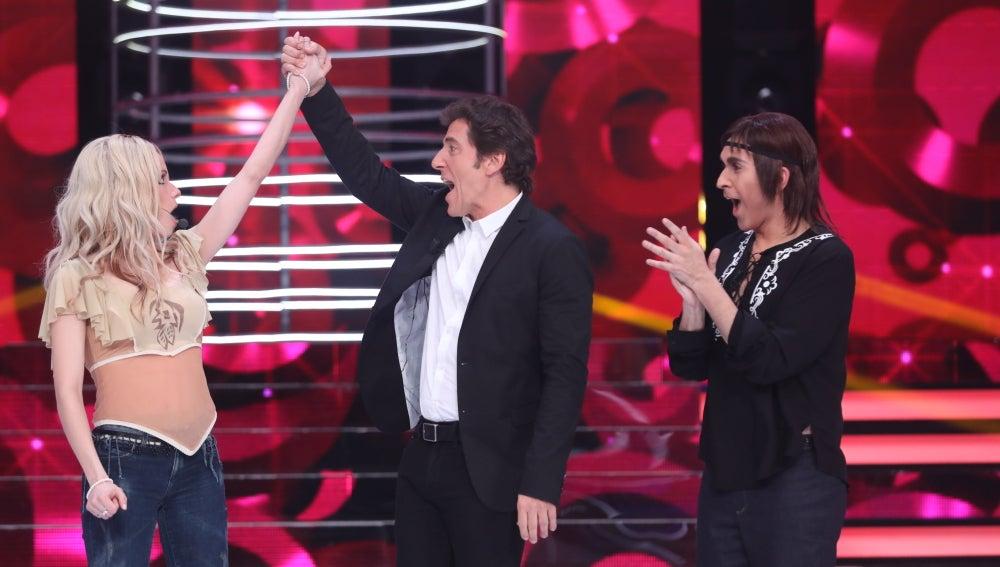 Patricia Aguilar, ganadora de la cuarta gala de 'TCNMST' tras imitar a Shakira