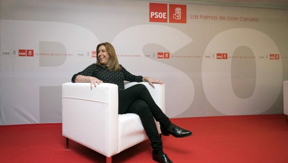 Susana Díaz en un acto en Canarias