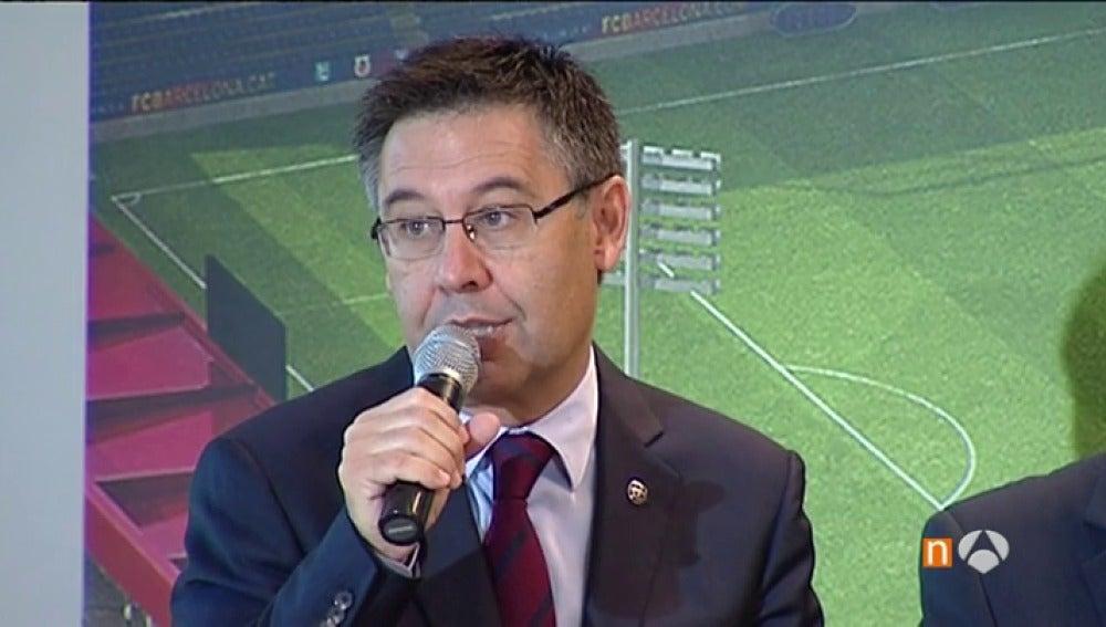 Frame 10.829666 de: Bartomeu muestra su apoyo a Piqué tras sus polémicas declaraciones