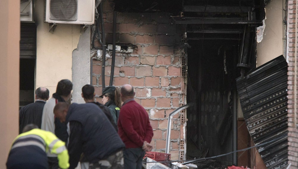 Explosión en una carnicería en Granada