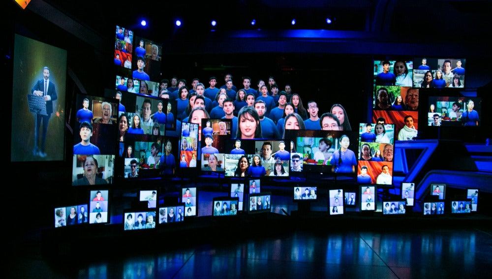 El coro más emotivo y virtual creado por el 'El Hormiguero 3.0'