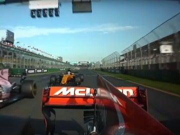 El McLaren de Alonso, adelantado por Hulkenberg y Ocon