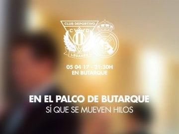 Cartel del Leganés para recibir al Real Madrid
