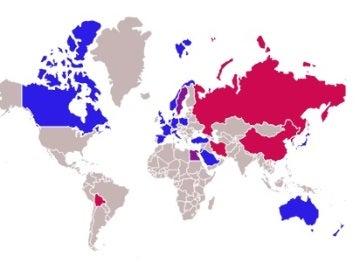 Países a favor y en contra del ataque de EEUU a Siria