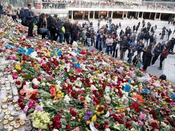 Homenajes en Estocolmo tras el atentado