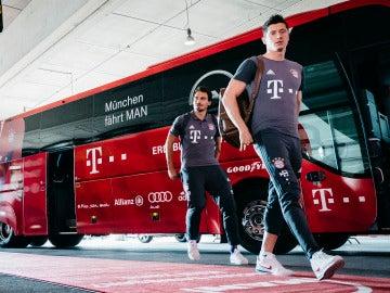 Lewandowski, antes de un partido frente al Bayern