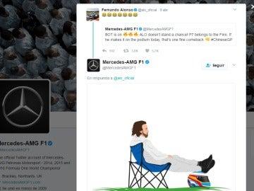 Los respuesta de Mercedes a Alonso