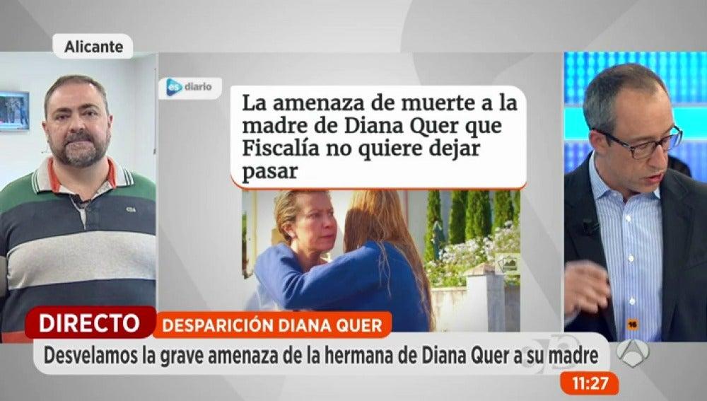 Antena 3 tv la hermana de diana quer amenaz a su madre for Espejo publico diana quer