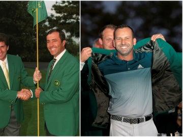 Olazabal, Ballesteros y García, los tres españoles campeones en Augusta