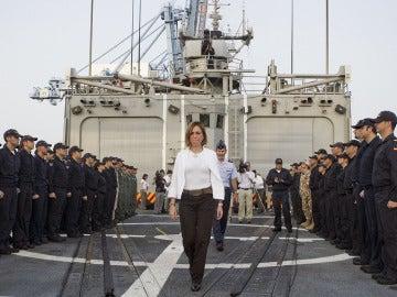 Carme Chacón cuando fue ministra de Defensa