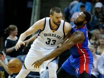 Marc Gasol, en acción ante los Detroit Pistons