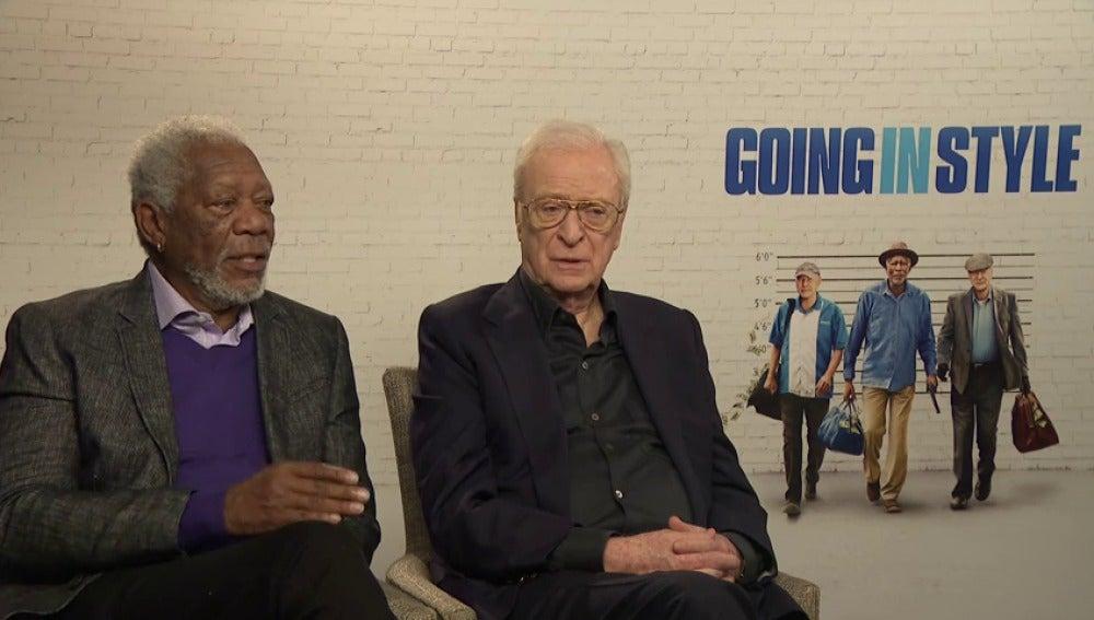 Frame 53.0062 de: Michael Caine y Morgan Freeman encarnan a dos jubilados dispuestos a robar un banco