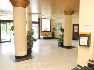 Vista del interior de una residencia de ancianos - Imagen de archivo