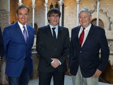 Romeva, Puigdemont y dos congresistas de EEUU
