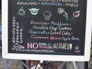 La broma de mal gusto de una cafetería de Uruguay