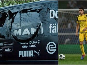 La luna rota del autobús del Borussia Dortmund