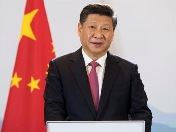 El presidente chino, Xi Jinping, durante una rueda de prensa