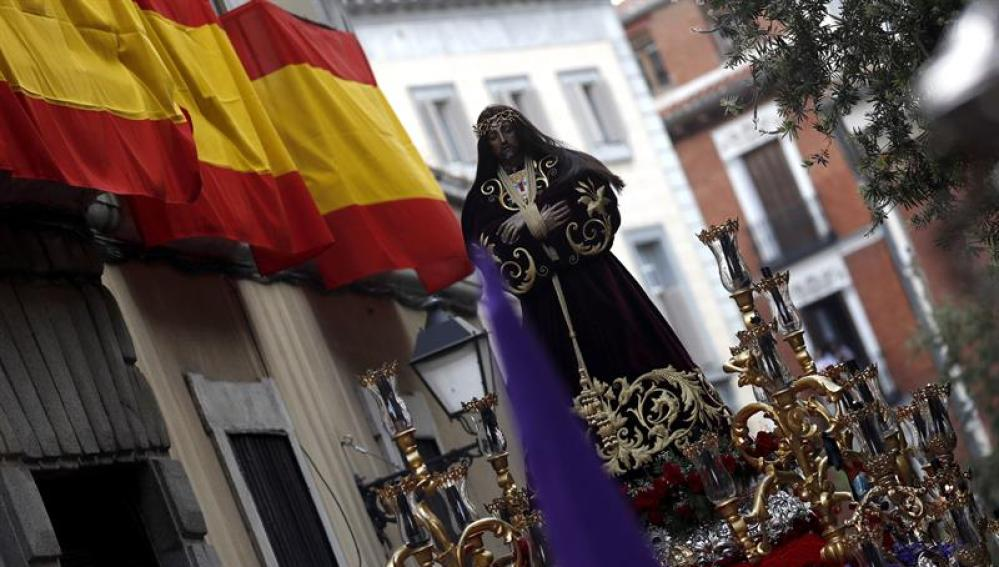 La imagen de Nuestro Padre Jesús Nazareno El Pobre en Madrid