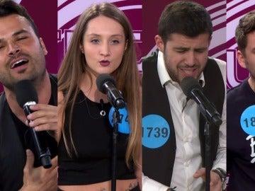 Así se emocionaron Noemí Galera y Ángel Llácer en los castings de 'Tu cara no me suena todavía