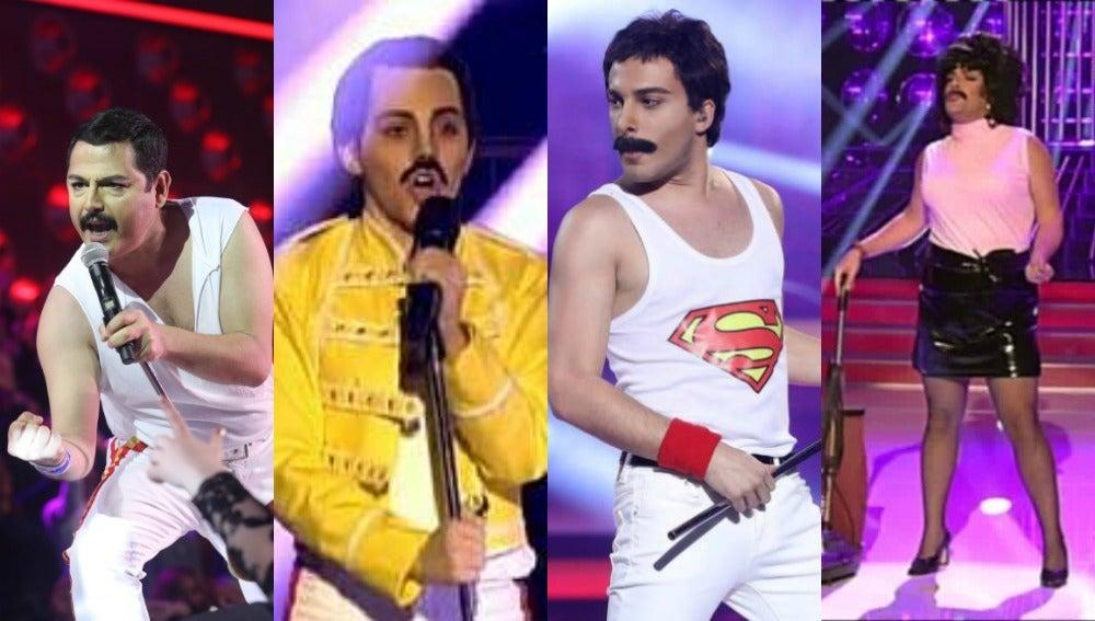 Freddie Mercury, uno de los artistas más imitados en 'Tu cara me suena' y 'Tu cara no me suena todavía'