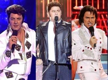 Las anónimas y famosas imitaciones del rey del rock en 'Tu cara me suena'