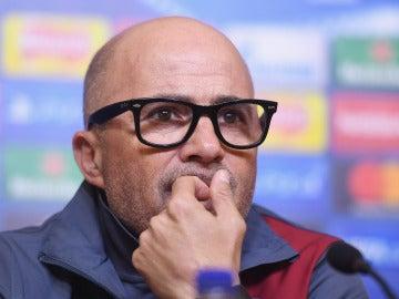 Jorge Sampaoli, durante una rueda de prensa