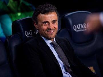Luis Enrique, en el banquillo del Camp Nou