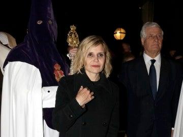Carlos Fitz-James Stuart y su hermana, Eugenia Martínez de Irujo, en la Semana Santa de Sevilla