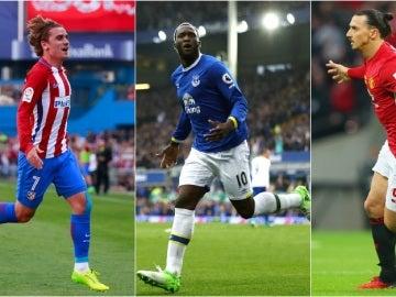 Griezmann, Lukaku e Ibrahimovic