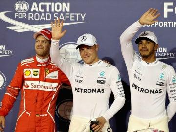 Vettel, Bottas y Hamilton, los más rápidos del sábado en Sakhir