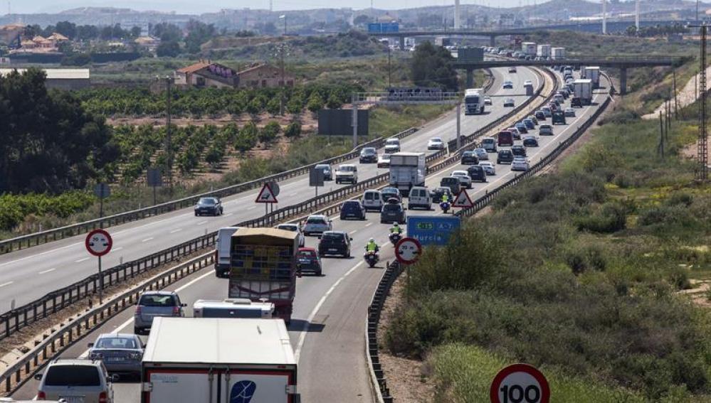 Tráfico lento en las carreteras