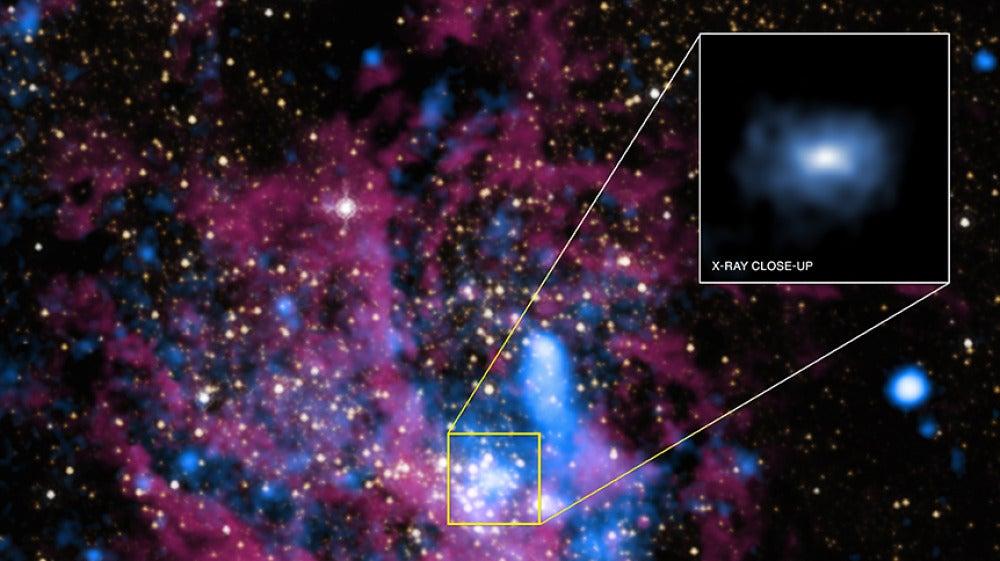 El centro de la galaxia Milky Way donde se encuentra el agujero negro Sagitario A*